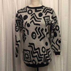 Vintage En Chanté Abstract Geometric Sweater USA